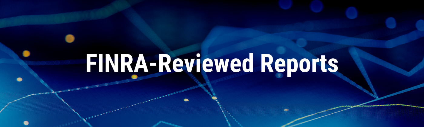 FINRA-reviewed reports header
